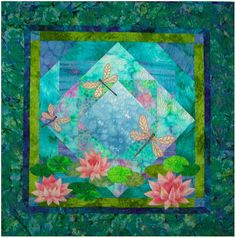 Dragonfly Pond Quilt Pattern LAM Designs DIY by UndercoverQuilts, $10.00
