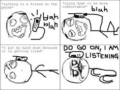 We all did this when on long talks…