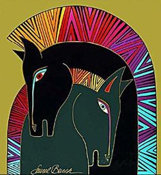 "More equine art inspirations & gallery StajniaSztuki.pl ""Mythical Horses"", Laurel Burch"
