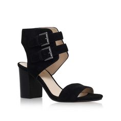 Galiceno Black Mid Heel Sandals from Nine West