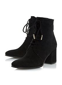 22309890977c View product Dune Olita lace up block heel ankle boots