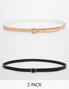 ASOS+2+Pack+Heart+Buckle+Waist+And+Hip+Belts
