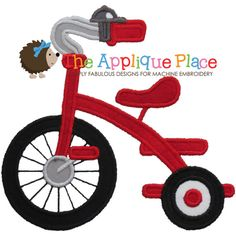 Tricycle Machine Embroidery Applique Design