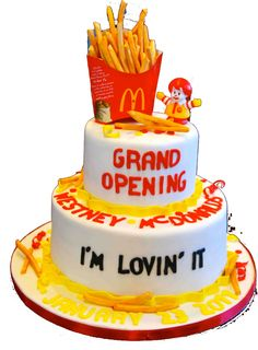 grand opening cake | grand opening in the news | McDonald's Ajax