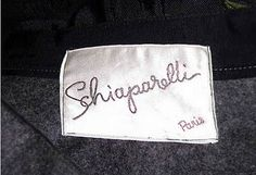 Schiaparelli hat label