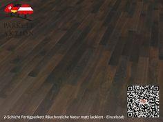 2-Schicht Fertigparkett Räuchereiche Natur matt lackiert - Einzelstab Format: 490 x 70 x 11 mm Hardwood Floors, Flooring, Texture, Crafts, Oak Tree, Nature, Wood Floor Tiles, Surface Finish, Wood Flooring