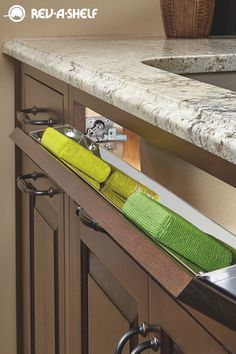 This Rev A Shelf Tip Out Tray Is Perfect For Hiding Sponges And Other