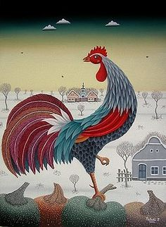 Rooster by Ferenc Pataki