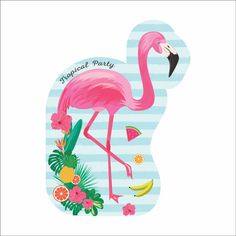 Resultado de imagem para tag festa flamingo
