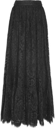 Dolce & Gabbana Cotton-blend lace maxi skirt on shopstyle.com.au