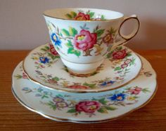 Vintage Tea Cup and Saucer Imari Trio in by TheAfternoonTeaSet