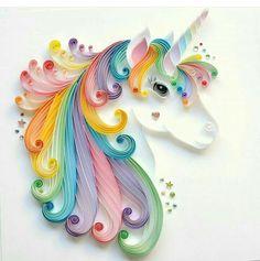 Quilling ! Bring creatif! Unicorn