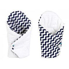 Конверт одеяло двубортное для новорожденных Зигзаг