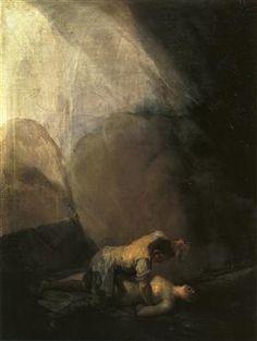 Brigand Murdering a Woman - Francisco Goya