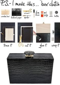Box Turned Clutch. For the full details check out #DIYQUEENBLOG we tell from start to finish #diy #diyqueen