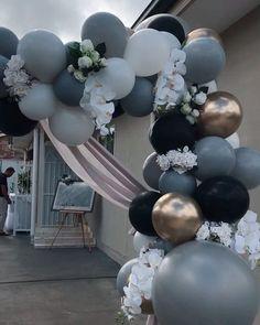 Groom house decor , I love it 2018 work , beautiful balloon work done Balloon Garland, Balloon Arch, Balloon Decorations, Birthday Party Decorations, Wedding Decorations, Birthday Parties, Balloon Ideas, Deco Ballon, Wedding Balloons