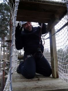 Seikkailupuisto Huippu, musta rata. Tree top Adventure Huippu, black course. Hochseilgarten Huippu, schwarze Route.