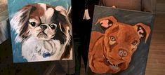 PAINT YOUR PETS.  Top quality paint class.  Students work taught at Winnipeg Art & Wine - Paint Your Pet Paint Your Pet, Wine Painting, Student Work, Students, Teaching, Pets, Top, Animals, Animaux