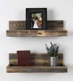 Reclaimed Wood Floating Shelf Set