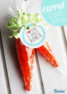 Carrot Easter Treats with Printable Tags