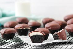 Peppermint Patty Brownie Bites are perfect for your chocolate mint lover. Sweet and delicious.