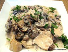Vasilli's Mushrooms With Ouzo - Kalofagas - Greek Food & Beyond