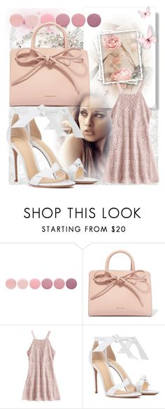 """pink lace"" by giada2017 on Polyvore featuring TC Fine Intimates, Deborah Lippmann, Mansur Gavriel and Alexandre Birman"