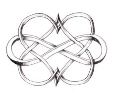 I love this Double Heart Infinity tattoo! I would love this on the back of my neck/wrist as my tattoo or even as a couple tattoo. Beautiful and unique! <3