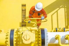Offshore Oil And Gas Operations, Production Operator Open Valve To Allow Gas Flowing To Sea Line Piping Stock Photo - Image of operator, maintenance: 107207058 Oil Rig Jobs, Oil Refinery, Wonderful Picture, Oil And Gas, Social Media Graphics, Rigs, Stock Photos, Sea, Wedges