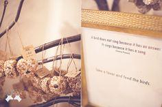 wedding favors; bird seed