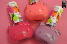 Hello kitty nail polishes from Primark from my hello kitty rocks manicure monday