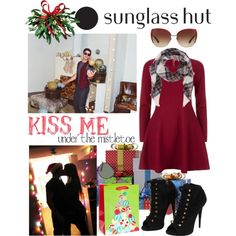 Celebrate in Every Shade with Sunglass Hut: Contest Entry- Kiss me under the misletoe