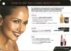 How to get the classic beauty look with Avon   #avon   #beauty     Order today @ http://cschnieders.avonrepresentative.com/