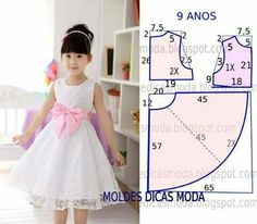 70 Ideas baby dress sewing tuto robe for 2019 Dresses Kids Girl, Kids Outfits, Flower Girl Dresses, Children Dress, Fashion Kids, Kids Dress Patterns, Dress Anak, Toddler Dress, Baby Sewing