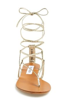 5aa5498d74f Steve Madden  Werkit  Gladiator Sandal (Women) available at  Nordstrom Gold  Sandals
