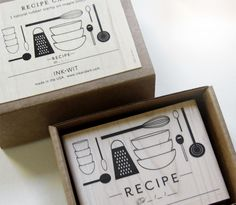 Recipe Stamp from INK+WIT