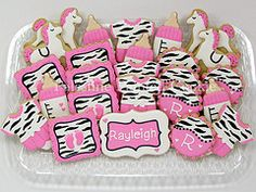 Zebra Baby Cookies