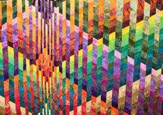 Undulations strip quilt by Jan Hassard (UK)