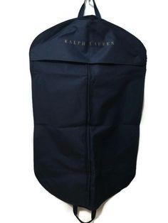 5aeed3e170fa Ralph Lauren Navy Zip Garment Suit Bag Handles Gold Letters 40 X 24  Authentic  RalphLauren