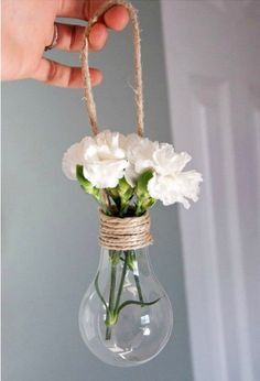 decoration from light bulbs - 120 ideas for old light bulbs - Deko. DIY DIY decoration from light bulbs - 120 ideas for old light bulbs - Deko. DIY - DIY decoration from light bulbs - 120 ideas for old light bulbs - Deko. Rope Crafts, Diy And Crafts, Resin Crafts, Stick Crafts, Cardboard Crafts, Creative Crafts, Yarn Crafts, Decor Crafts, Light Bulb Vase