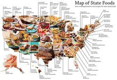 Mapping the 50 State Favorite foods | GISuser.com