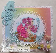 Digital Stamp Digi Stamp digistamp Ariela Mermaid by Conie Hand Coloring, Coloring Books, Coloring Pages, Fun Crafts, Paper Crafts, Shops, Cute Mermaid, How To Make Paper, Digital Stamps