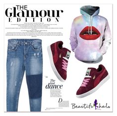 """Beautifulhalo 30"" by black-fashion83 ❤ liked on Polyvore featuring Puma, Anja, women's clothing, women, female, woman, misses and juniors"