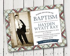 Items similar to Boy Baptism Invitation 5 designs to pick from photo card printable on Etsy Design Show, My Design, Custom Design, Baptism Invitations, Custom Invitations, Lds, Boy Baptism, Boy Photos, Photo Cards