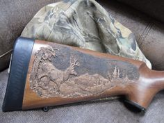 gunstock Relief Carving | Custom Engraving | Wood Carving: Gunstock Carvings