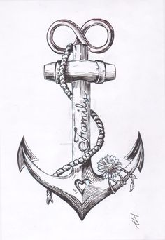 Anchor Tattoo Design by JoshThompsonART.deviantart.com on @DeviantArt