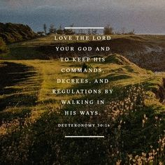 Love the Lord and keep His commands.