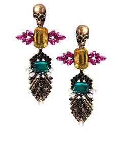 ASOS Skull Jewelled Drop Earrings <3