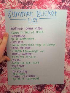 Fun summer bucket list