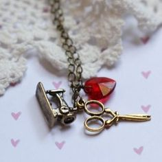 i love to sew charm necklace #shopruche